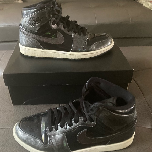 official images buying now in stock Jordan Shoes | Nike Air 1 Black Patent Leather | Poshmark